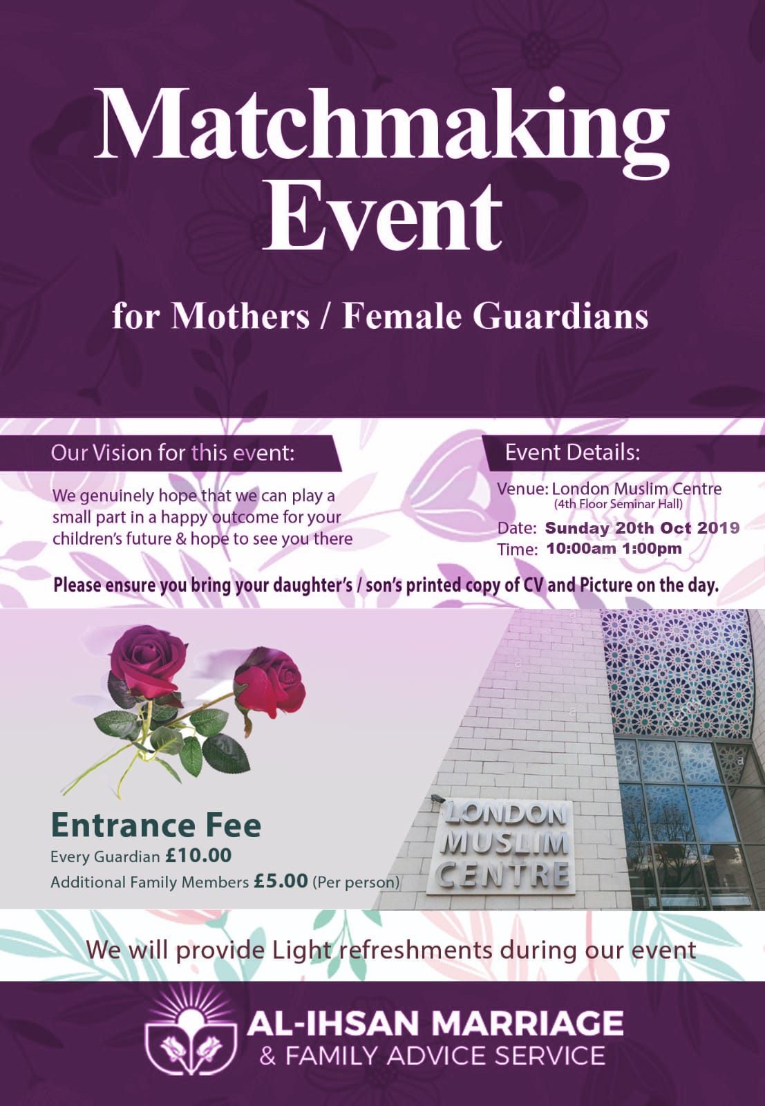 Matchmaking Event for Mothers / Female Guardians Oct-2019